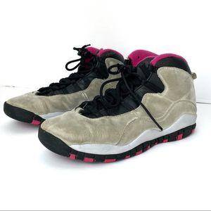 Jordan 10 Retro in Rush Pink/Grey